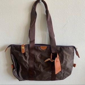 Brics Small Weekender Purse Bag Brown